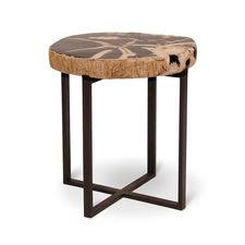 Small Black Accent Table Palecek