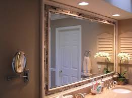 framed bathroom mirror ideas bathroom large bathroom mirror ideas on mosaic wall featuring