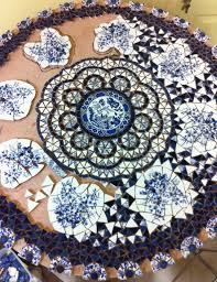 How To Make A Mosaic Table Top Upcycling Dinner Plates And Old China U2022 Nifty Homestead