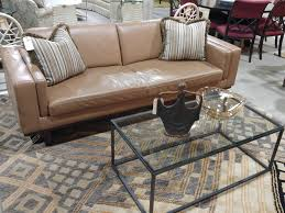 shabby chic leather sofa leather sofa seams to fit home supple camel adds an earthy warmth
