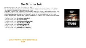 the on the by paula hawkins mp3 audio books audioboo