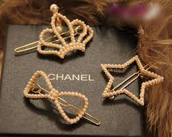hair clip types causal pearl bow knot crown hair clip 3 type 1660
