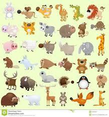 big cartoon animal set royalty free stock photography image