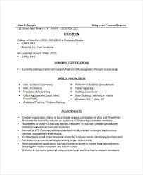 8 finance resume free u0026 premium templates