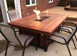 large fire pit table exterior large brown lacquered hardwood table which slicked up with