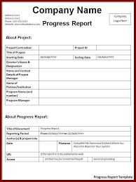 Construction Progress Report Template Free by 14 Construction Progress Report Template Sendletters Info