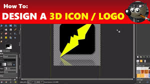 gimp design how to design a 3d logo icon in gimp using gimp tutorial