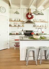 Open Metal Shelving Kitchen by Open Shelving Range Hood Kitchen Contemporary With Mosaic Tile