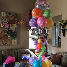 50th birthday balloon delivery custom balloon designs simi valley ca party blitz