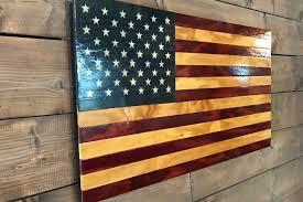 rustic american wood flag veteran made patriotic wall decor