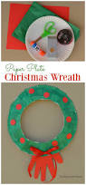 paper plate christmas wreath kid craft the resourceful mama
