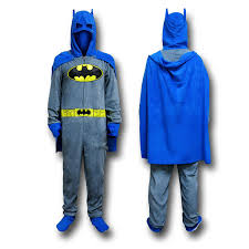 batman costume pajamas with cape and cowl