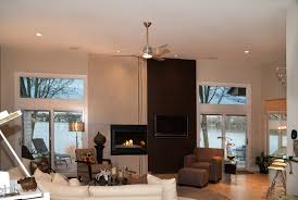 Nickel Ceiling Fan With Light Living Room Ceiling Fans With Lights Photogiraffe Me
