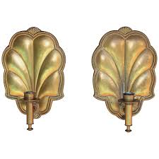 Copper Wall Sconce Pair Of Antique French Wall Sconces Gilded Copper From