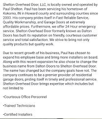 Overhead Door Company Kansas City by Shelton Overhead Door Kokomo In 46902 Yp Com