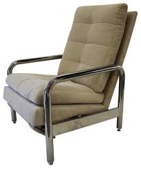 Vintage Recliner Chair Consigned Vintage Chrome Recliner By Milo Baughman For Thayer