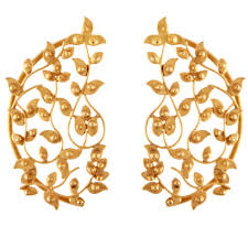 gold ear cuffs buy gold plated ear cuff worn by haydon online in india at