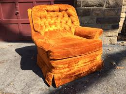 upholstered swivel rocker chairs orange upholstered swivel rocker attainable vintage