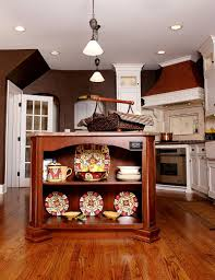 trendy display 50 kitchen islands with open shelving cherry wood kitchen island with delightful kitchenware on display design normandy remodeling