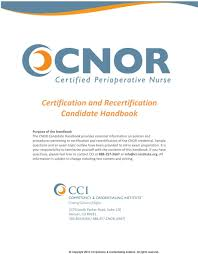 certification and recertification candidate handbook pdf