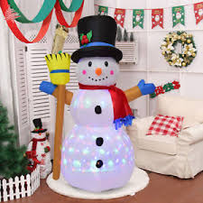4ft indoor outdoor led snowman decor