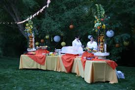 food tables at wedding reception life of the tuttle s wedding reception