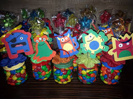 little monster baby food jar party favors birthday party