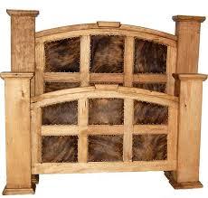 Best Bedroom Furniture Images On Pinterest Western Furniture - Cowhide bedroom furniture