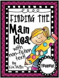 main idea of a story worksheet main idea comprehension and