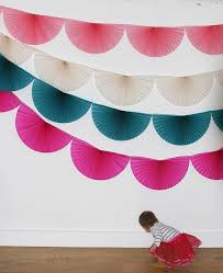 paper fan circle decorations paper fan bunting garlands buntings garlands and wedding venue