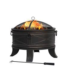 black friday home depot outdoor heating hampton bay quadripod 26 in round fire pit ft 51161 the home depot