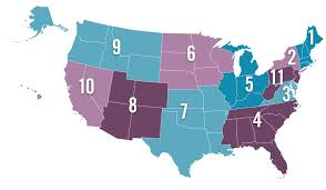 United States Regional Map by Hunt Seat And Western Zones Of The Interscholastic Equestrian