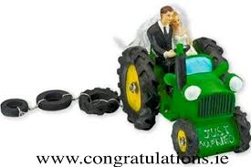tractor cake topper groom on green tractor cake topper stationery