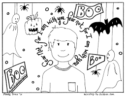 church coloring page kids cute pages with halloween in for