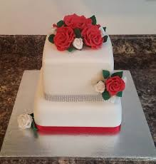 ruby wedding cakes two tier roses ruby wedding cake cake by cakes by kris