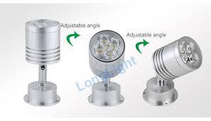 10pcs lot mini led spot light 1w 85 265v led ceiling light 360