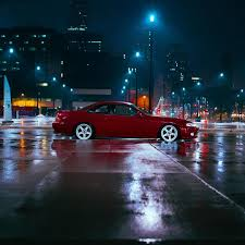 lexus sc300 norge car night lights rain on instagram