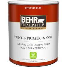 behr premium plus 1 qt ultra pure white flat zero voc interior