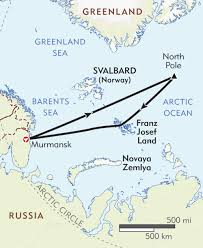 Cape Air Route Map by North Pole Itinerary U0026 Map Wilderness Travel