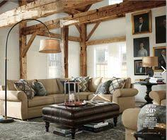 Pottery Barn Sectional Couches Farmhouse Style Windows In Black Sofa Sets Deep Sofas U0026 Eco