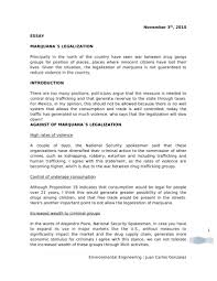 legalization of cannabis essay calibration technician cover letter