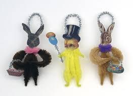 chenille easter chenille easter decorations easter ornaments handmade
