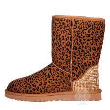 ugg boots sale marshalls ugg boot in chestnut leopard with approx 1500 golden