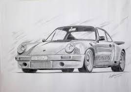saatchi art porsche 911 rs 1974 pencil sketch drawing by sreejith
