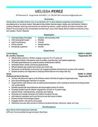 Example Of Nanny Resume by Professional Nanny Resume Images For Modern Nanny Resume Example