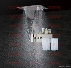 bathroom accessories shower set concealed panel stainless steel