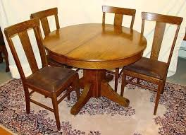 round mission oak dining table round pedestal dining table dining