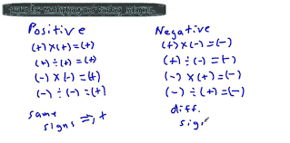 rules for multiplying and dividing integers youtube