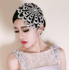 rhinestone hair buy wholesale wedding exaggerated headdress jewelry cobweb