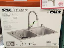 Kohler Stainless Steel Sink And Faucet Package Costco